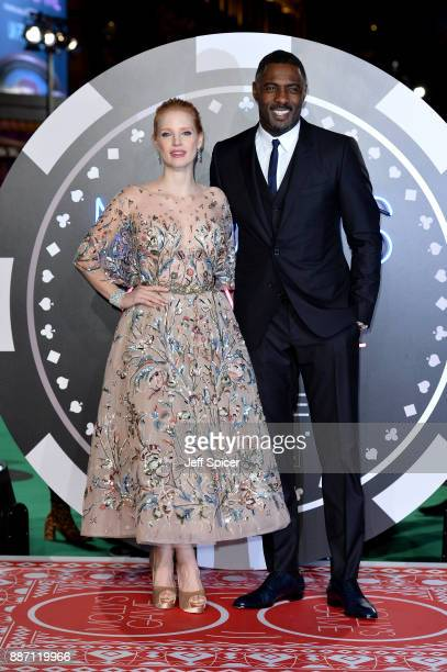 Actors Jessica Chastain and Idris Elba attend the 'Molly's Game' UK premiere held at Vue West End on December 6 2017 in London England