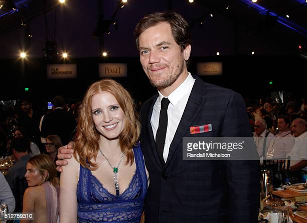 Actors Jessica Chastain and Michael Shannon attend the 2016 Film Independent Spirit Awards on February 27 2016 in Santa Monica California