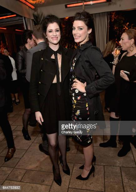 Actors Jessica De Gouw and Jessica Pare attend the Cadillac Oscar Week Celebration at Chateau Marmont on February 23 2017 in Los Angeles California