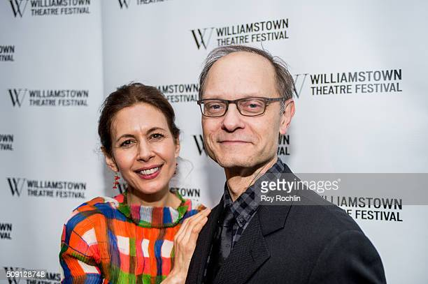 Actors Jessica Hecht and David Hyde Pierce attend the Williamstown Theatre Festival 2016 Annual Benefit City Winery on February 8 2016 in New York...