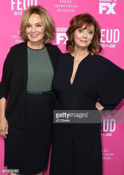 Actors Jessica Lange and Susan Sarandon attend FX's 'Feud Bette And Joan' FYC event at The Wilshire Ebell Theatre on April 21 2017 in Los Angeles...