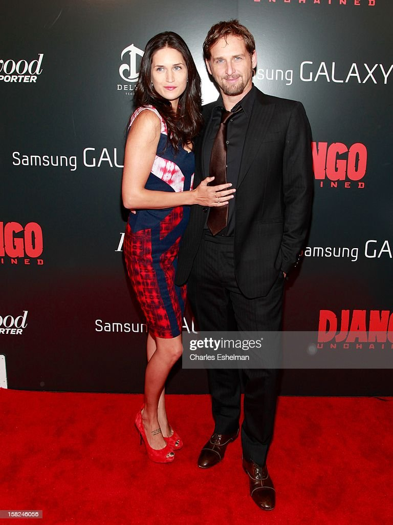 Actors Jessica Lucas and Josh Lucas attend The Weinstein Company With The Hollywood Reporter, Samsung Galaxy And The Cinema Society Host A Screening Of 'Django Unchained' at Ziegfeld Theater on December 11, 2012 in New York City.