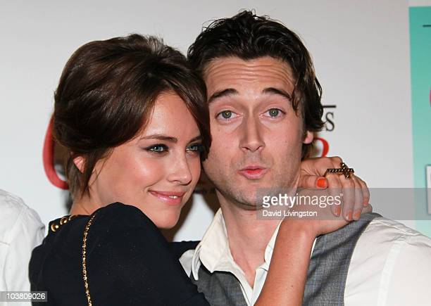 Actors Jessica Stroup and Ryan Eggold attend The Taste of Beverly Hills wine food festival opening night on September 2 2010 in Beverly Hills...