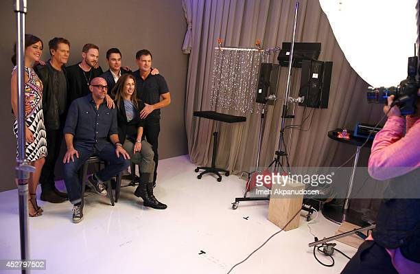 Actors Jessica Stroup Kevin Bacon Shawn Ashmore Sam Underwood producer Kevin Williamson director Marcos Siega and producer Jennifer Johnson attend...