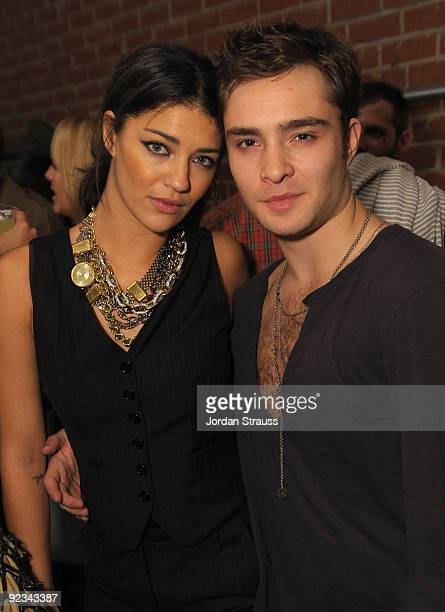 Actors Jessica Szohr and Ed Westwick attend Todd DiCiurcio Heartstrings Hosted By Ed Westwick At Confederacy And Sponsored By RagBone at Confederacy...