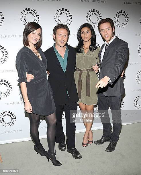 Actors Jill Flint Mark Feuerstein Reshma Shetty and Paulo Costanzo attend an Evening with 'Royal Pains' presented by the Paley Center for Media at...