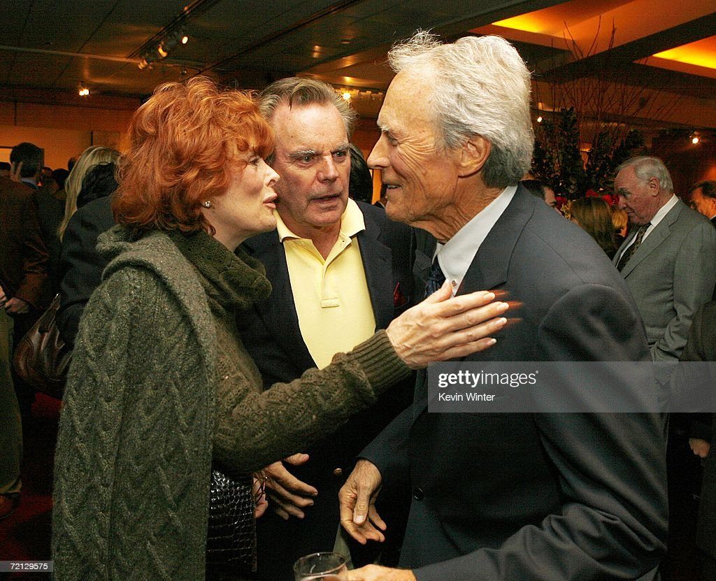 Actors Jill St. John (L), her husband Robert Wagner and actor/director Clint Eastwood talk at the afterparty for the premiere of Paramount's 'Flags Of Our Fathers' at the Academy of Motion Picture Arts and Sciences on October 9, 2006 in Beverly Hills, California.