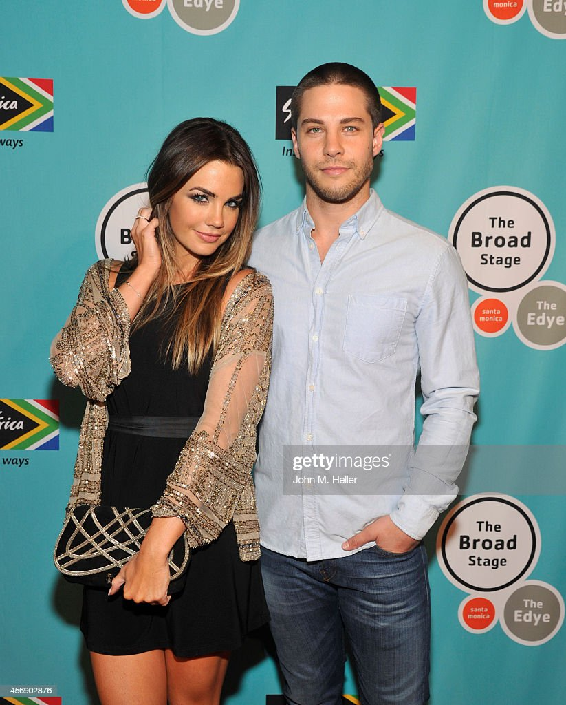 Actors Jillian Murray and Dean Geyer arrive at the South African Tourism presents Isango Ensemble in Mozart's 'The Magic Flute' at The Broad Stage on...
