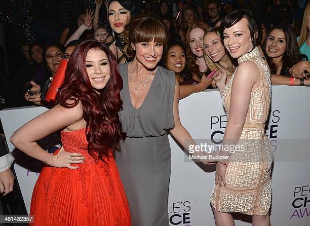 Actors Jillian Rose Reed Nikki DeLoach and Ashley Rickards attend The 40th Annual People's Choice Awards at Nokia Theatre LA Live on January 8 2014...