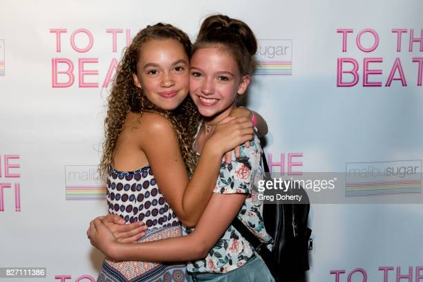 Actors Jillian Shea Spaeder and Jayden Bartels arrive for the 'To The Beat' Special Screening at The Colony Theatre on August 6 2017 in Burbank...