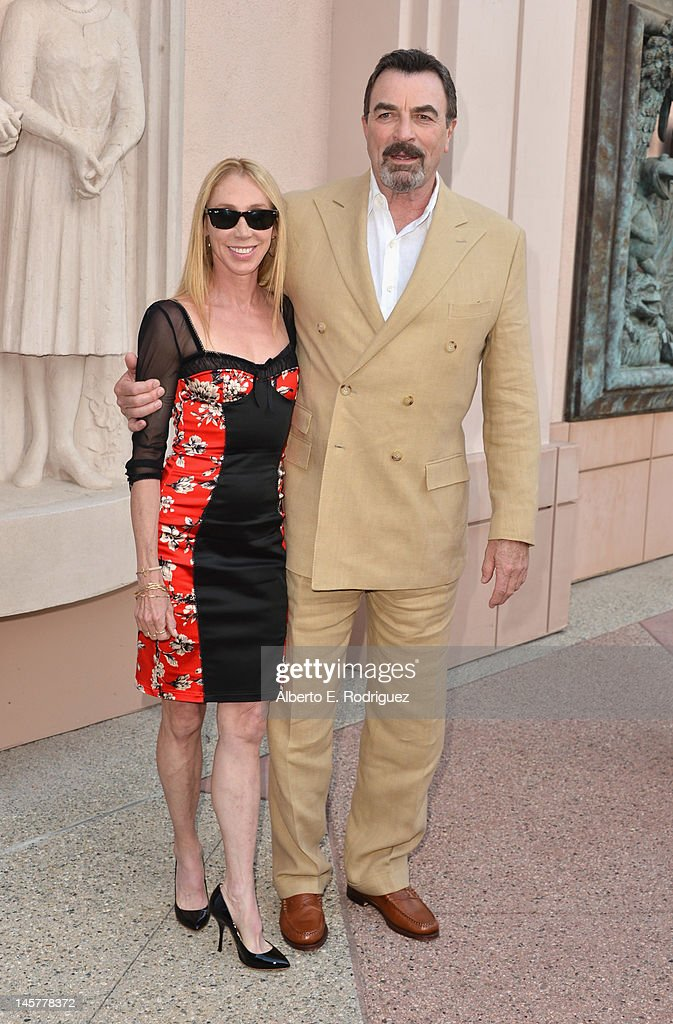 Actors Jillie Mack and Tom Selleck arrive to a screening and panel discussion of CBS's 'Blue Bloods' at Leonard H. Goldenson Theatre on June 5, 2012 in North Hollywood, California.