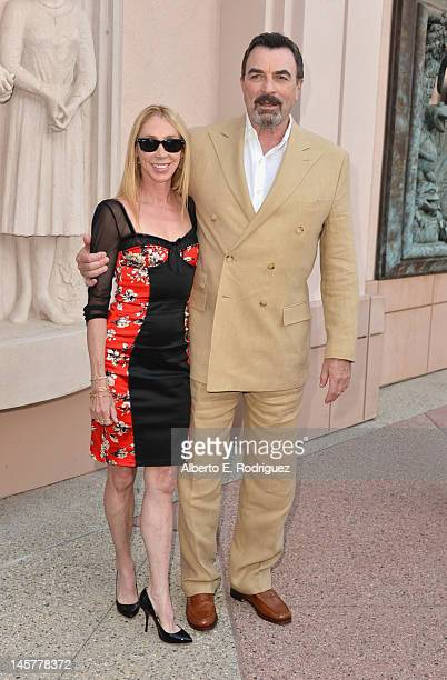 Actors Jillie Mack and Tom Selleck arrive to a screening and panel discussion of CBS's 'Blue Bloods' at Leonard H Goldenson Theatre on June 5 2012 in...