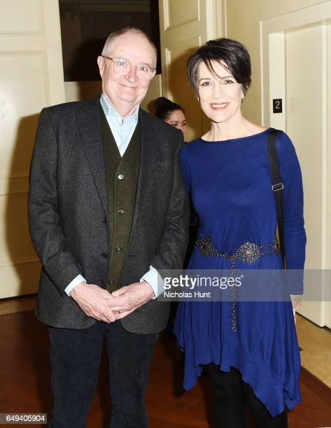 Actors Jim Broadbent and Harriet Walter attend the 'The Sense of an Ending' Lunch Q and A at The Lotus Club on March 7 2017 in New York City