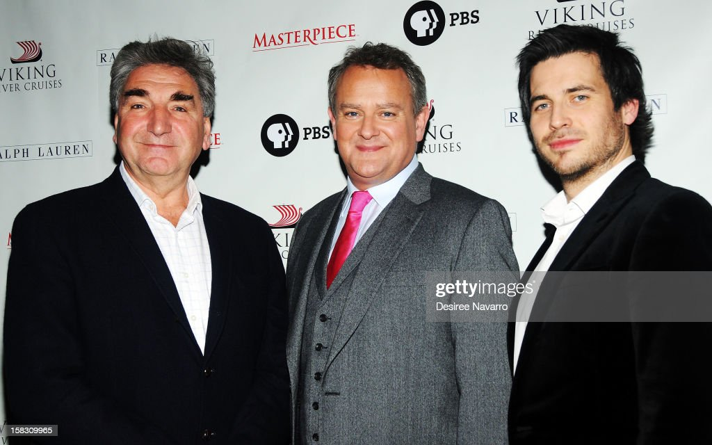 Actors Jim Carter, <a gi-track='captionPersonalityLinkClicked' href=/galleries/search?phrase=Hugh+Bonneville&family=editorial&specificpeople=228840 ng-click='$event.stopPropagation()'>Hugh Bonneville</a> and <a gi-track='captionPersonalityLinkClicked' href=/galleries/search?phrase=Rob+James-Collier&family=editorial&specificpeople=7201395 ng-click='$event.stopPropagation()'>Rob James-Collier</a> attend the 'Downton Abbey' Season 3 Photo Call at the Essex House on December 12, 2012 in New York City.