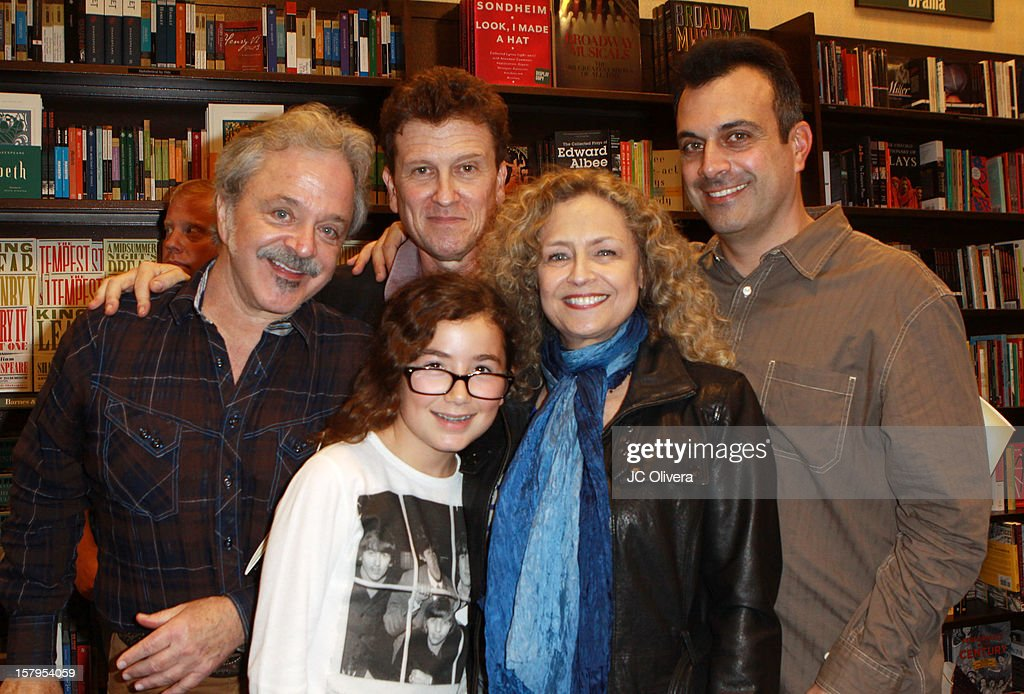 Actors Jim Cummings, Roger Rose, Greg Boghosian, Haden Ryan-Embry and Jeannie Elias attend a live Interactive reading event of 'ELFBOT' inside Barnes & Noble at The Americana at Brand on December 7, 2012 in Glendale, California.