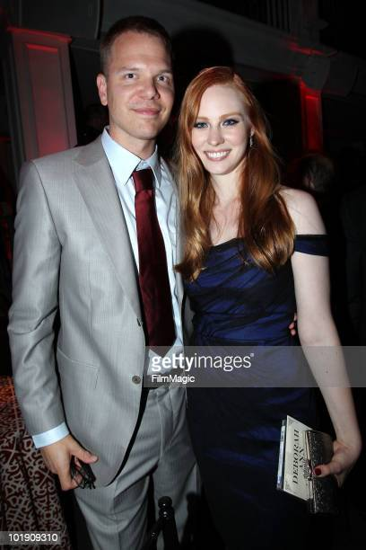Actors Jim Parrack and Deborah Ann Woll arrive at HBO's 'True Blood' Season 3 premiere after party held at Boulevard3 on June 8 2010 in Hollywood...