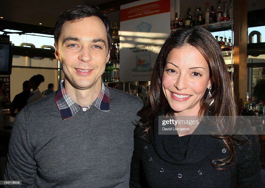 Actors <a gi-track='captionPersonalityLinkClicked' href=/galleries/search?phrase=Jim+Parsons&family=editorial&specificpeople=2480791 ng-click='$event.stopPropagation()'>Jim Parsons</a> (L) and <a gi-track='captionPersonalityLinkClicked' href=/galleries/search?phrase=Emmanuelle+Vaugier&family=editorial&specificpeople=741707 ng-click='$event.stopPropagation()'>Emmanuelle Vaugier</a> attend a reception to celebrate the release of Chuck Lorre's 'What Doesn't Kill Us Makes Us Bitter' at Mixology101 & Planet Dailies on October 24, 2012 in Los Angeles, California.