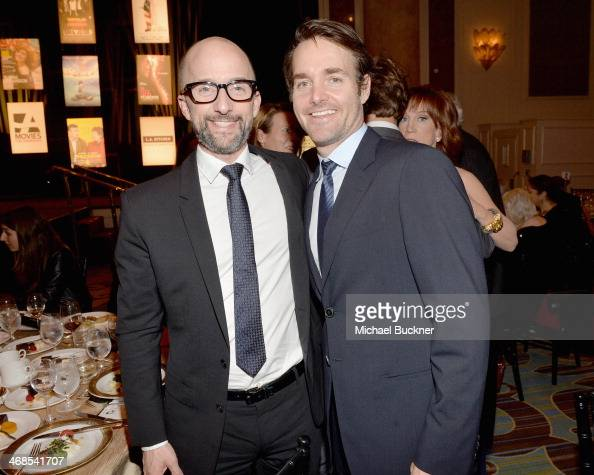 Actors Jim Rash and Will Forte attend the 13th Annual AARP's Movies for Grownups Awards Gala at Regent Beverly Wilshire Hotel on February 10 2014 in...