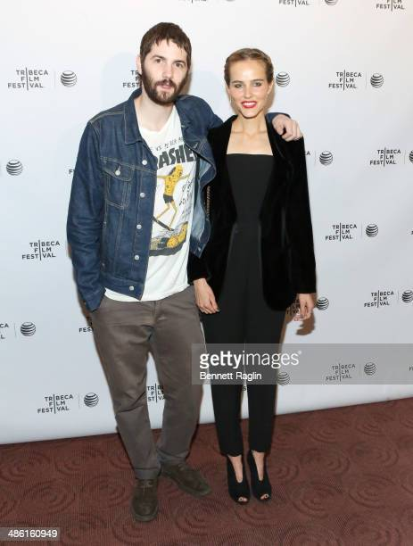 Actors Jim Sturgess and Isabel Lucas attend the screening of 'Electric Slide' during the 2014 Tribeca Film Festival at Chelsea Bow Tie Cinemas on...