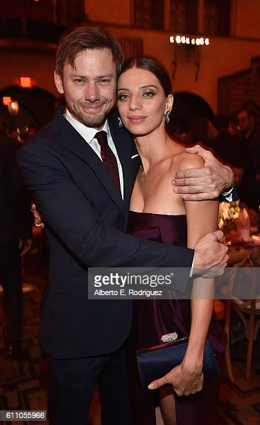 Actors Jimmi Simpson and Angela Sarafyan attend the after party for the premiere of HBO's 'Westworld' at TCL Chinese Theatre on September 28 2016 in...