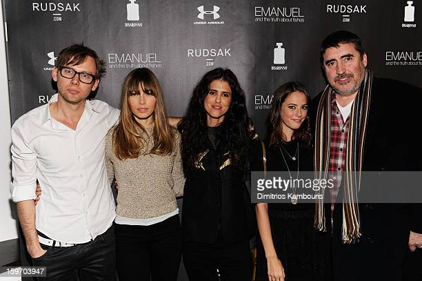 Actors Jimmi Simpson and Jessica Biel director Francesca Gregorini and actors Kaya Scodelario and Alfred Molina attend The Next Generation Filmmaker...