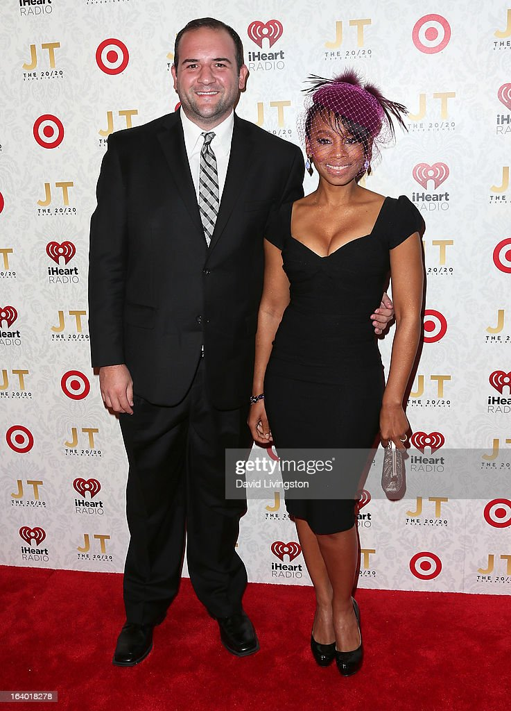 Actors Jimmy Smagula (L) and <a gi-track='captionPersonalityLinkClicked' href=/galleries/search?phrase=Anika+Noni+Rose&family=editorial&specificpeople=227294 ng-click='$event.stopPropagation()'>Anika Noni Rose</a> attend the iHeartRadio '20/20' album release party with Justin Timberlake presented by Target at the El Rey Theatre on March 18, 2013 in Los Angeles, California.
