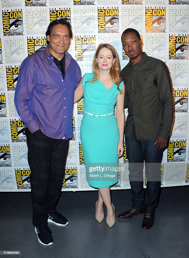 Actors Jimmy Smits Miranda Otto and Corey Hawkins attend the Fox Action Showcase 'Prison Break' And '24 Legacy' during ComicCon International 2016 at...