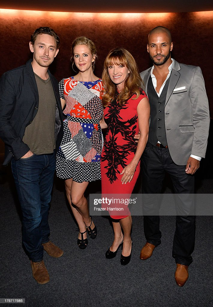 Actors J.J Field, Georgia King, Jane Seymour, Ricky Whittle, attend TheWrap's Indie Series Screening of 'Austenland' at the Landmark Theater on August 6, 2013 in Los Angeles, California.
