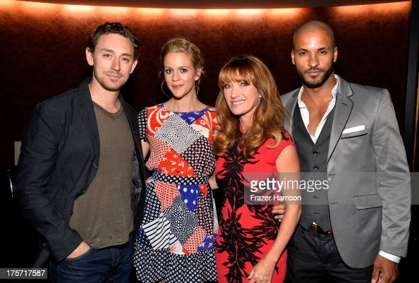 Actors JJ Field Georgia King Jane Seymour Ricky Whittle attend TheWrap's Indie Series Screening of 'Austenland' at the Landmark Theater on August 6...