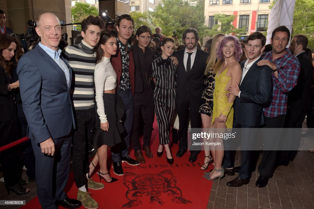 Actors J.K. Simmons, Timothée Chalamet, Katherine C. Hughes, Ansel Elgort, Will Peltz, Kaitlyn Dever, Director/Co-Writer/Producer Jason Reitman, Elena Kampouris, Olivia Crocicchia, Will Peltz, Travis Tope and Adam Sandler attend the Gala Screening of Paramount Pictures' 'MEN, WOMEN,& CHILDREN' during the 2014 Toronto International Film Festival at Ryerson Theatre on September 6, 2014 in Toronto, Canada.