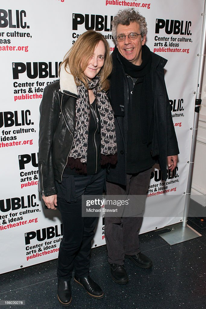 Actors Jo Bonney (L) and <a gi-track='captionPersonalityLinkClicked' href=/galleries/search?phrase=Eric+Bogosian&family=editorial&specificpeople=577475 ng-click='$event.stopPropagation()'>Eric Bogosian</a> attends the Under The Radar Festival 2013 Opening Night Celebration at The Public Theater on January 9, 2013 in New York City.