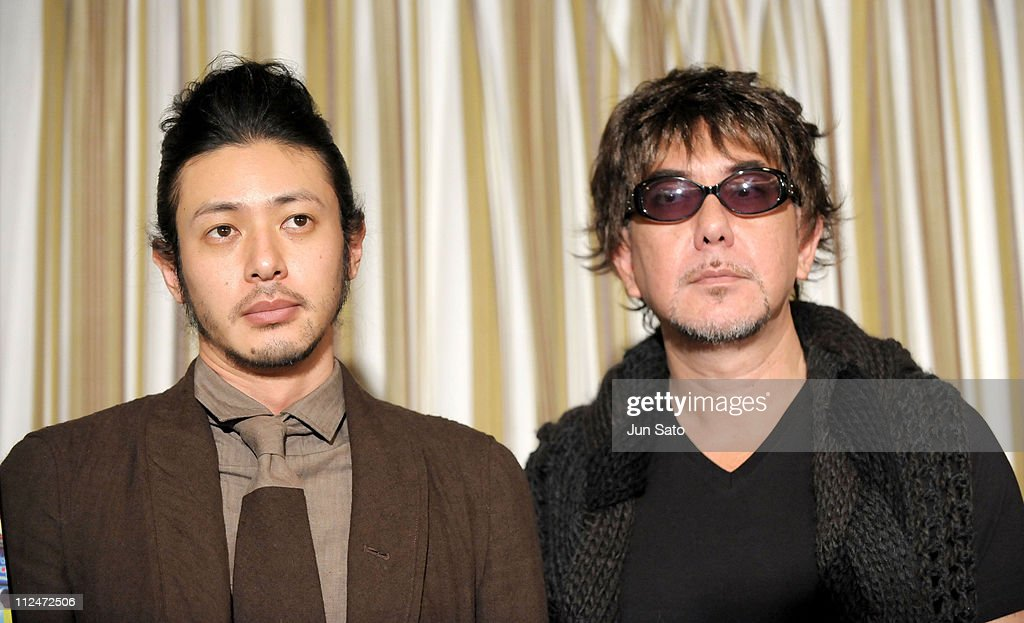 Actors Jo Odagiri and Anthony Wong attend the 'Plastic City' press conference at the Foreign Correspondents' Club In Japan on February 3, 2009 in Tokyo, Japan. The film will open on March 14 in Japan.