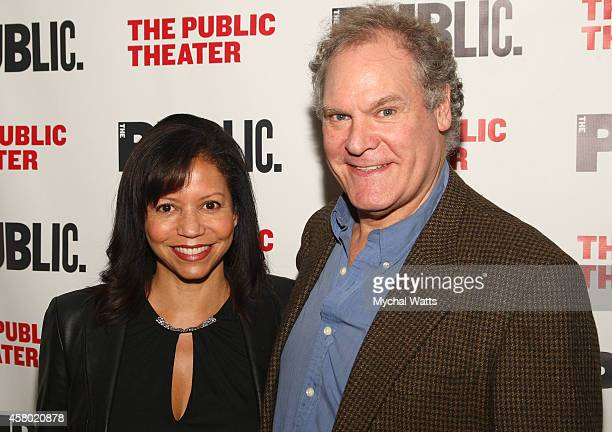 Actors JO Sanders and Gloria Reuben attends the 'Father Comes Home From The Wars' opening night at The Public Theater on October 28 2014 in New York...