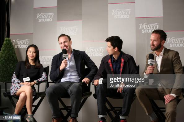 Actors Jo Yang Rafe Spall Asa Butterfield and director Morgan Matthews attend the Variety Studio presented by Moroccanoil at Holt Renfrew during the...