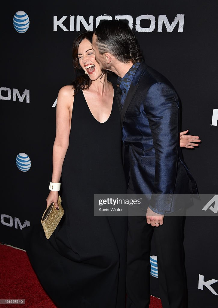Actors Joanna Going and Jonathan Tucker attend the premiere of DIRECTV's 'Kingdom' Season 2 at SilverScreen Theater at the Pacific Design Center on...