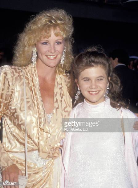 Actors Joanna Kerns and Tracey Gold attend the ABC Affiliates Party on June 9 1987 at Century Plaza Hotel in Los Angeles California