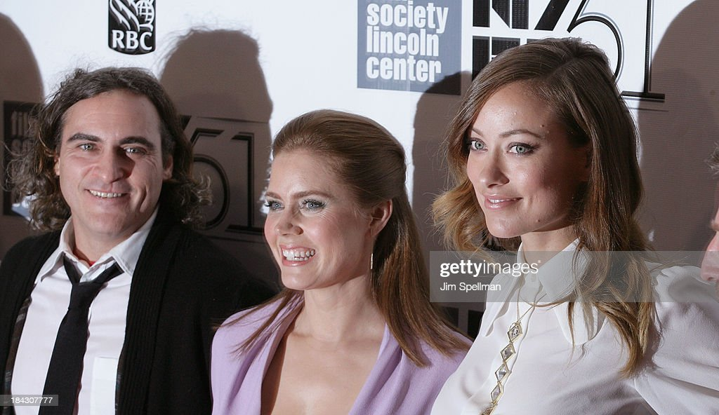 Actors Joaquin Phoenix, Amy Adams and Olivia Wilde attend the Closing Night Gala Presentation Of 'Her' during the 51st New York Film Festival at Alice Tully Hall at Lincoln Center on October 12, 2013 in New York City.