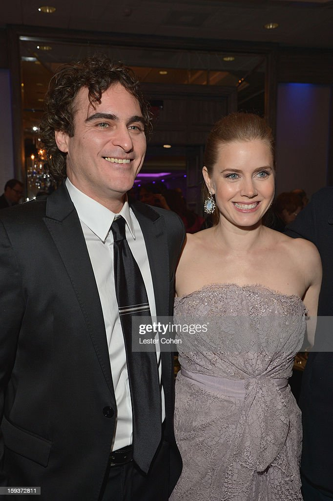 Actors Joaquin Phoenix and Amy Adams attend the 38th Annual Los Angeles Film Critics Association Awards at InterContinental Hotel on January 12 2013...