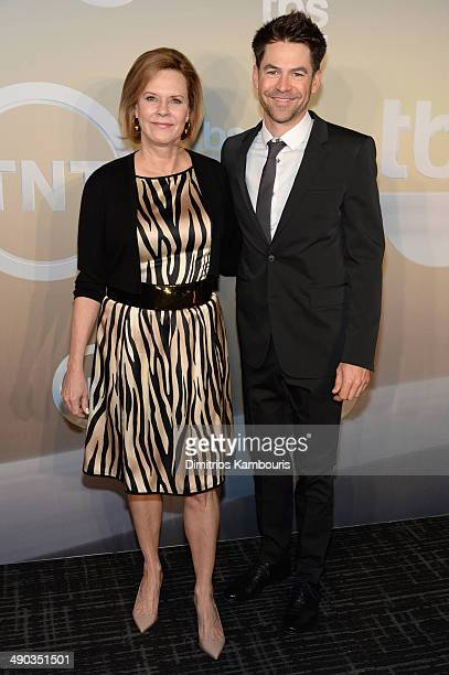 Actors JoBeth Williams and Kyle Howard attend the TBS / TNT Upfront 2014 at The Theater at Madison Square Garden on May 14 2014 in New York City...