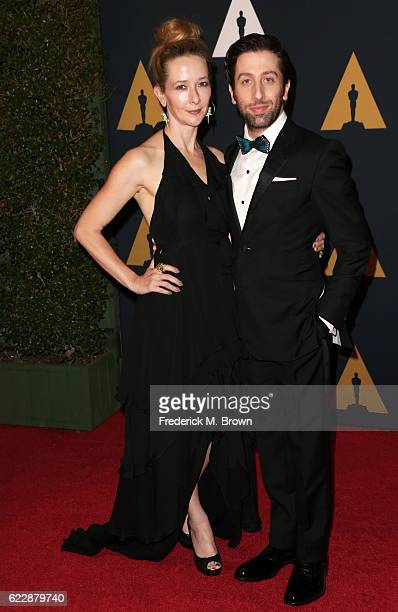 Actors Jocelyn Towne and Simon Helberg attend the Academy of Motion Picture Arts and Sciences' 8th annual Governors Awards at The Ray Dolby Ballroom...