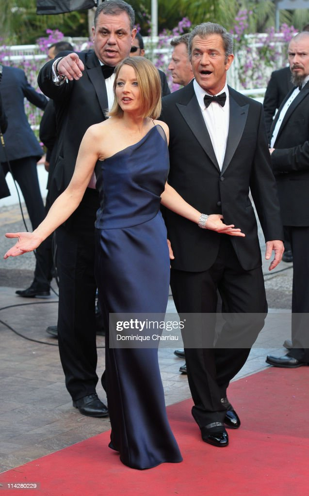Actors Jodie Foster and Mel Gibson attend 'The Beaver' Premiere during the 64th Cannes Film Festival at the Palais des Festivals on May 17 2011 in...