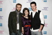 Actors Joe Anderson Eve Hewson and David P Emrich attend the premiere of 'The 27 Club' during the 7th Annual Tribeca Film Festival on April 26 2008...
