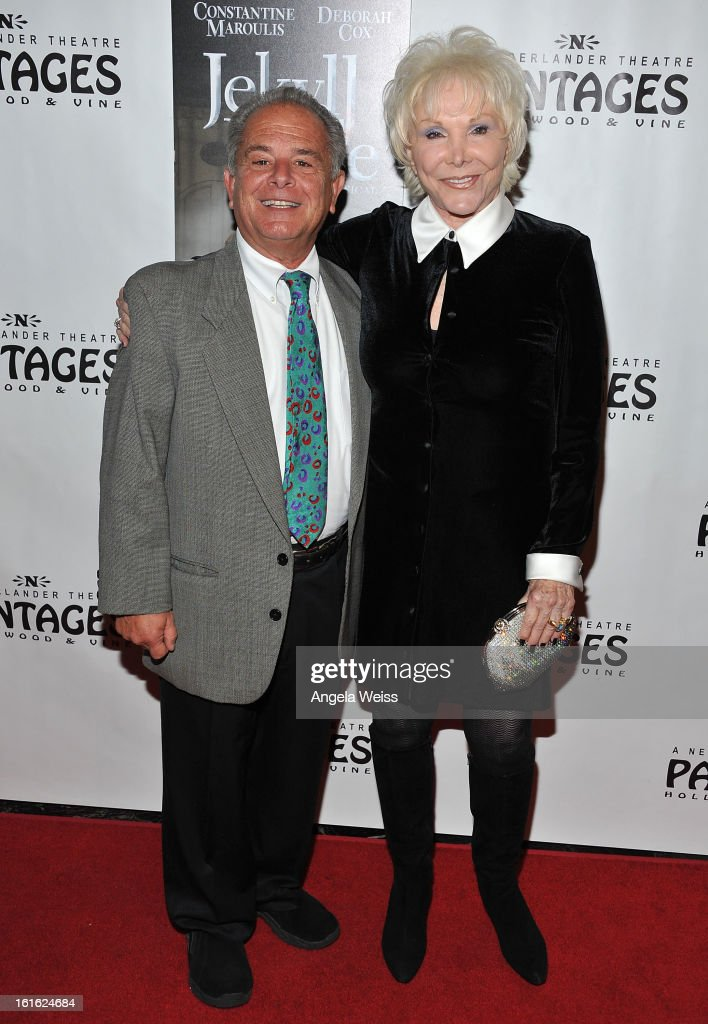 Actors Joe Giamalva and Joan Benedict Steiger arrive at the opening night of 'Jekyll & Hyde' held at the Pantages Theatre on February 12, 2013 in Hollywood, California.
