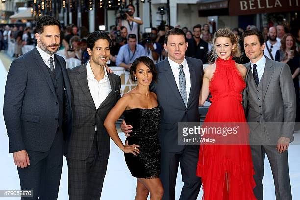 Actors Joe Manganiello Adam Rodriguez Jada Pinkett Smith Channing Tatum Amber Heard and Matt Bomer attend the European Premiere of 'Magic Mike XXL'...