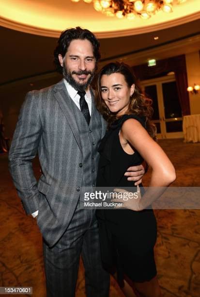 Actors Joe Manganiello and Cote de Pablo arrive at the 8th Annual GLSEN Respect Awards held at Beverly Hills Hotel on October 5 2012 in Beverly Hills...