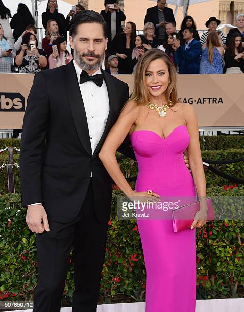 Actors Joe Manganiello and Sofía Vergara attend the 22nd Annual Screen Actors Guild Awards at The Shrine Auditorium on January 30 2016 in Los Angeles...