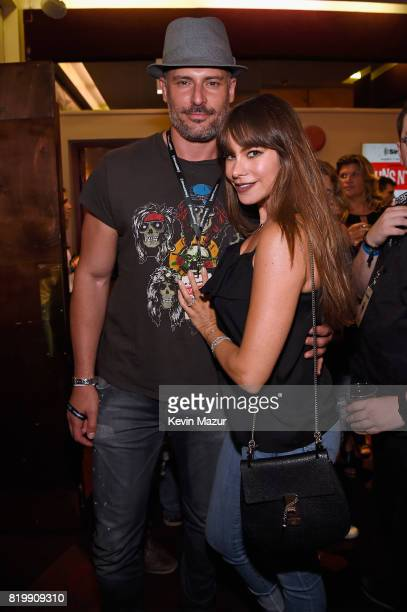 Actors Joe Manganiello and Sofia Vergara attend SiriusXM's Private Show with Guns N' Roses at The Apollo Theater before band embarks on next leg of...