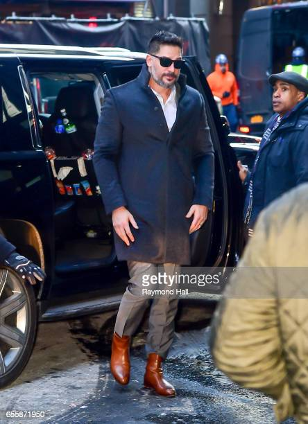 Actors Joe Manganiello is seen interview at 'Good Morning America' at the ABC Times Square Studios on March 20 2017 in New York City