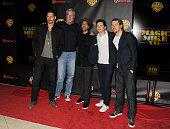 Actors Joe Manganiello Kevin Nash Adam Rodriguez Matt Bomer and Channing Tatum arrive at Warner Bros Pictures The Big Picture at The Colosseum at...