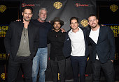 """Actors Joe Manganiello Kevin Nash Adam Rodriguez Matt Bomer and Channing Tatum attend Warner Bros Pictures Invites You to """"The Big Picture"""" an..."""